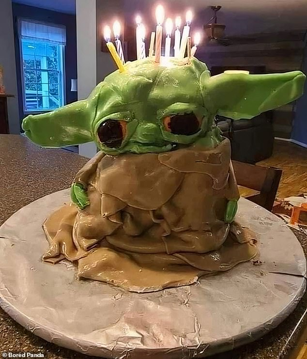 It's the thought that counts: This Baby Yoda cake was a solid effort, even if it missed a little mark