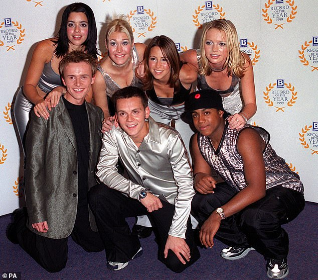 Talented: Singer, 43, (third from left) best known for being a bandmember in a Brit Award-winning band before enjoying success as a chart-topping solo artist (pictured in 1999).