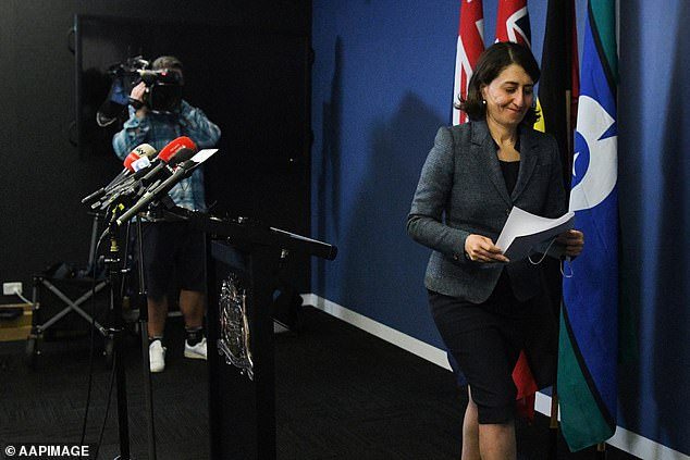 Gladys Berejiklian (pictured on October announcing her resignation) skipped the Liberal Party leadership vote. The daughter of Armenian migrants, had almost five years as premier, making her the Liberal Party's second-longest serving government leader since Robert Askin's decade in power from 1965 to 1975