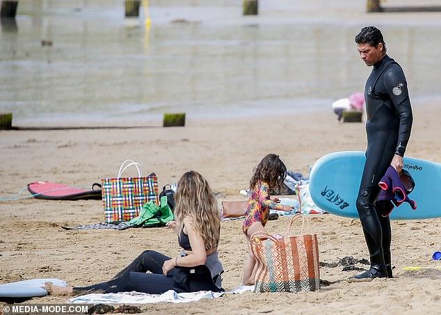 , SAS Australia's Mark Philippoussis enjoys a beach day with his wifeSilvana Lovin and their children, Nzuchi Times National News