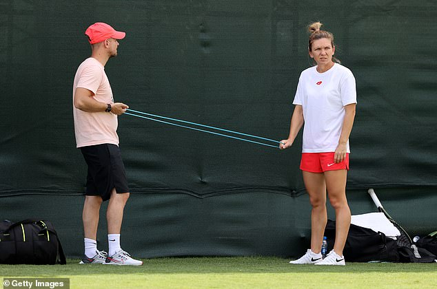 US Open winner may meet Simona Halep (right) in the third round at Indian Wells