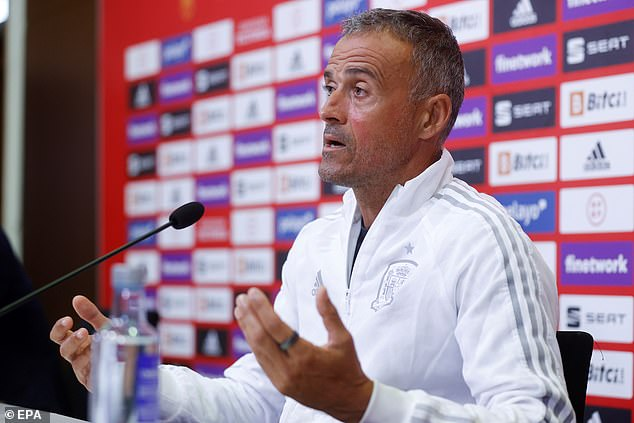 His form has earned him a call up to the Spanish national team by boss Luis Enrique (above)