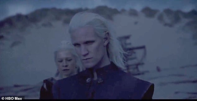 First look:HBO has released its first teaser for Game Of Thrones spin-off House Of The Dragon, which features star Matt Smith as he broods on a dark beach