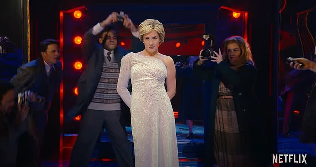 Gina De Waal as Diana in 'Diana the Musical' on Netflix