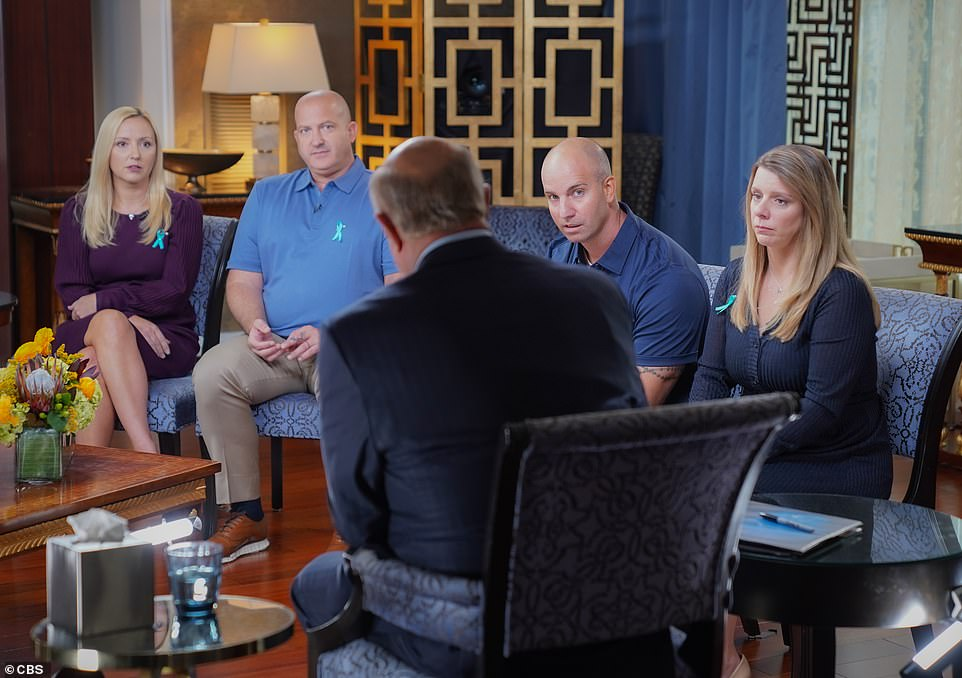 Gabby Petito's family went on Dr. Phil on Tuesday and called out Brian Laundrie's family. Pictured from L-R: step-mother Tara Petito, father Joe Petito, step-father James Schmidt, mother Nicole Schimdit