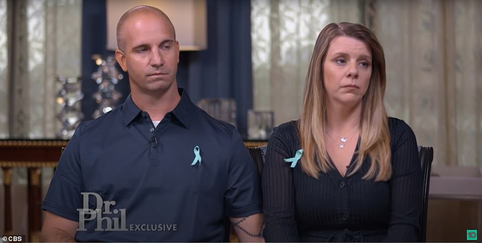 Gabby's step-father, James Schimdt (left), said he had helped identify Gabby's body