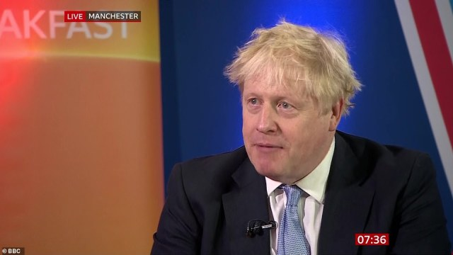 Boris Johnson compared the current disruption to a 'giant waking up', saying it was what you would expect of the global economy recovering and 'sucking in demand'