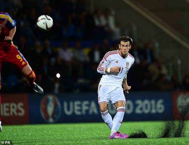Gareth Bale described the Estadio Nacional as the 'worst pitch' he'd ever played on (pictured)