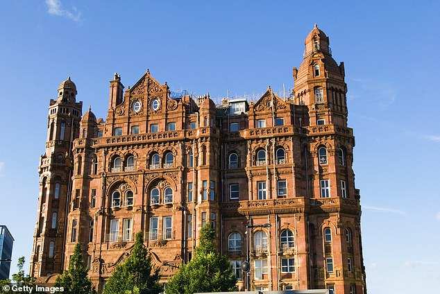 Pictured: the exterior of the Midland Hotel in Central Manchester (stock image)