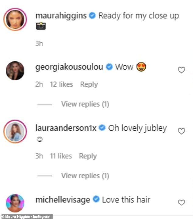 Like this: Celebrity friends and fans praise her rosy image on her page