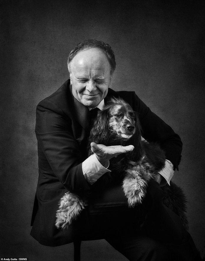 Pooch: Jason Watkins with his dog Georgie