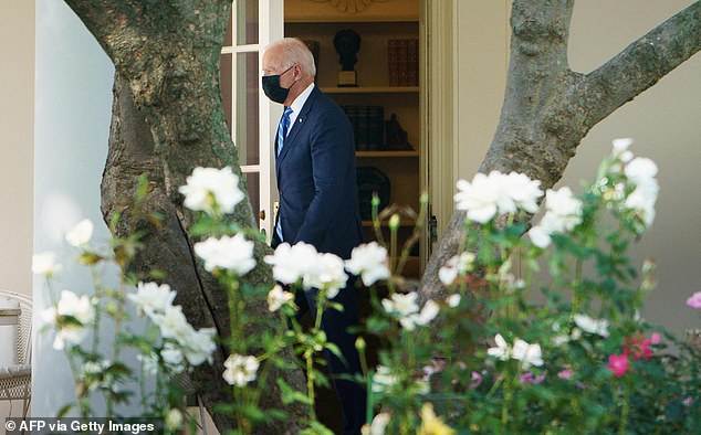 President Biden exits the Oval Office into the White House Rose Garden to head to Michigan to sell his infrastructure plan