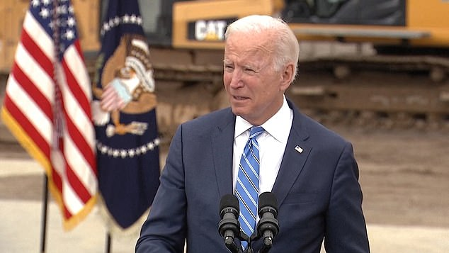 President Joe Biden delivers remarks in Howell, Michigan on Tuesday about his Build Back Better agenda