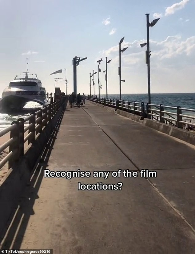 The Tangalooma Resort¿s long jetty was also seen in Ms Grace¿s video and was often featured in the movie set as the ¿Spooky Island Pier¿