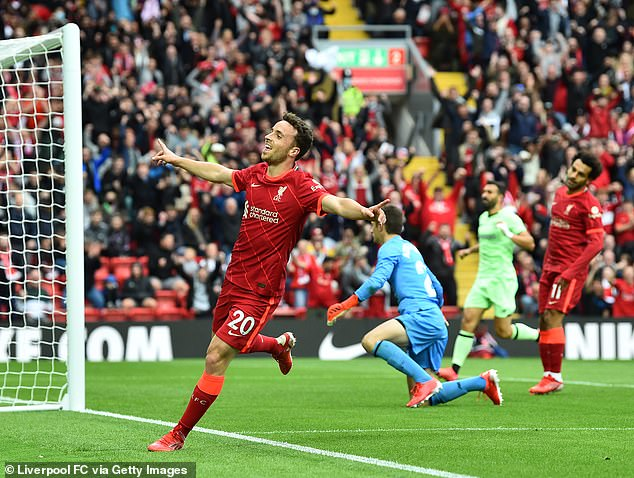 The forward opened the scoring in the Reds' first home game of the season against Burnley