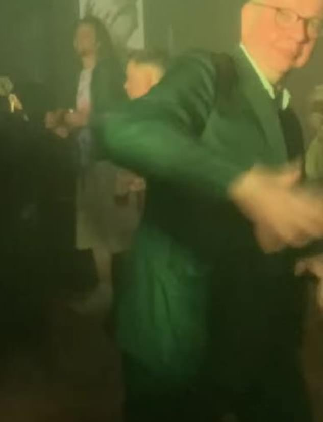 The usually reserved minister was filmed throwing shapes on the dance floor at Bohemia in Aberdeen, pausing only to shake hands with fellow partygoers