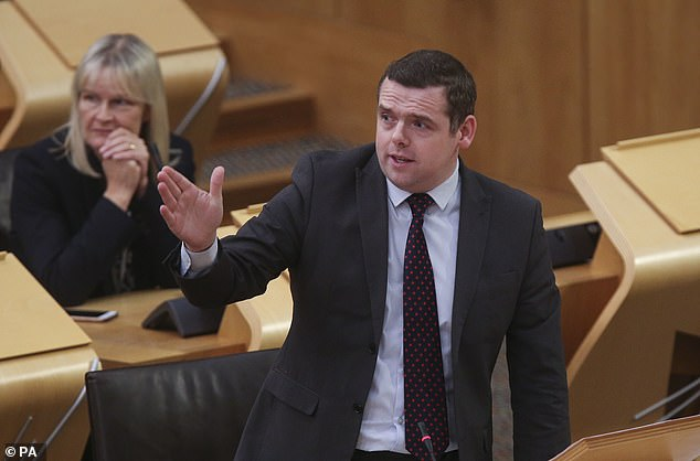 Scottish Tory leader Douglas Ross (pictured) described the process as a 'shumble' and described the plan as 'a complete and utter embarrassment'.