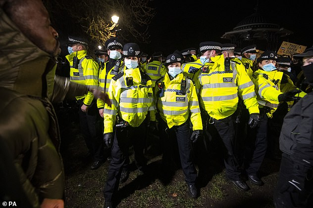 There has been condemnation of the policing of the vigil, with Home Secretary Priti Patel seeking a full report on events