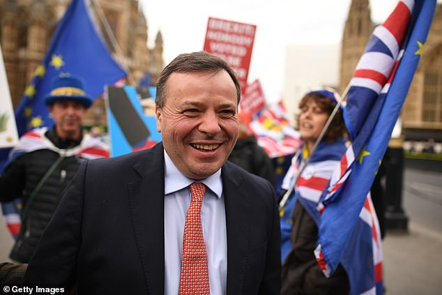 HM Revenue & Customs (HMRC) assessed millionaire Arron Banks (pictured) - one of the self-styled 'Bad Boys of Brexit' - as owing more than £160,000 on almost £1 million in donations to UKIP between October 2014 and March 2015