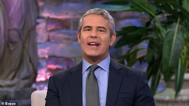 Another day at the office for Andy: Cohen is used to being the ringleader for the explosive reunion episodes and appears to be on his toughest form yet