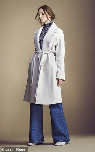 Coat, £295, and top, £65, jigsaw-online. com; jeans, £75, frenchconnection.com; and boots, £329, lkbennett.com