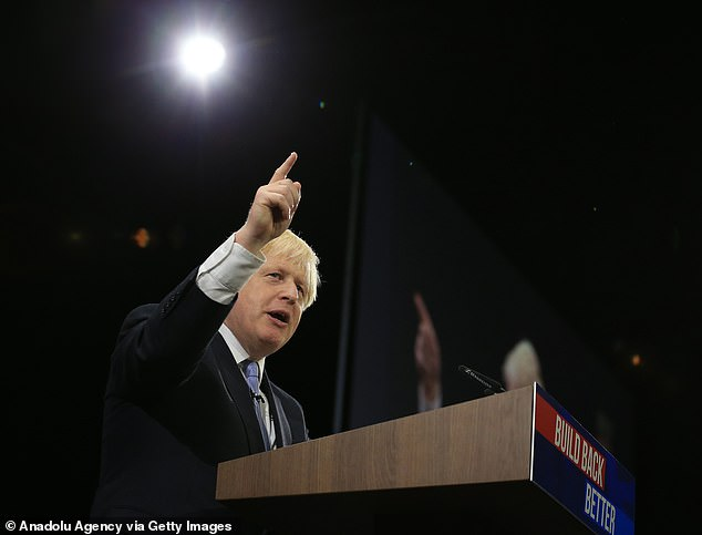In his Conservative Party conference speech yesterday, Mr Johnson admitted the process of reshaping the economy to one with less immigration and better wages will be 'difficult'
