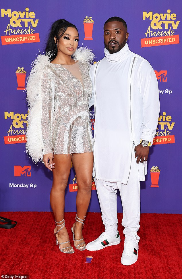 Third time:The singer and his ex have been married since 2016, though this marks the third time divorce papers have been filed; pictured together in May in LA