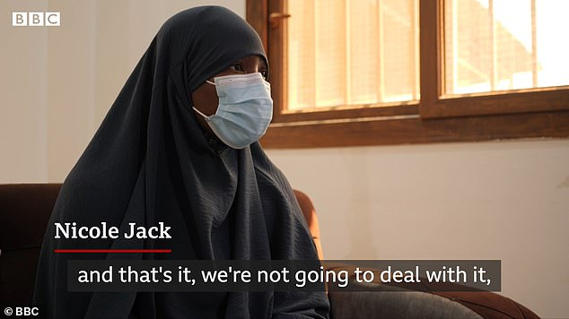 Ms Jack lived under the Isis regime for three years, but insists she is not a security threat to Britain