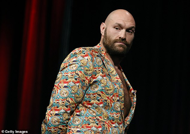 Tyson Fury (above) has told his brother Tommy Fury that he will have to retire from boxing and change his last name if he loses to YouTube star turned boxer Jake Paul