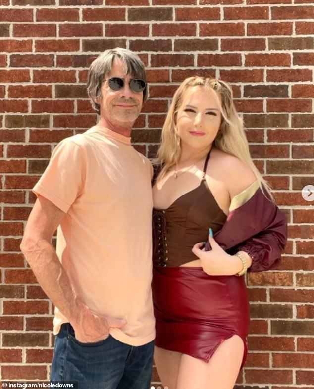 Nicole Downs, 21, from Michigan, has been dating partner Michael, 54, for the past few years and garnered 482k followers on TikTok after sharing a clip about their 33-year-old age gap relationship.