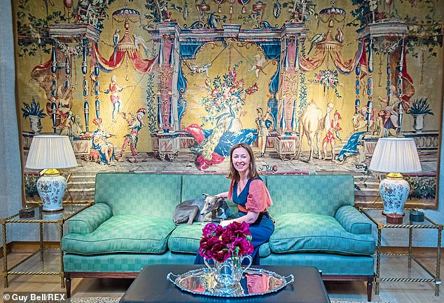 Little Sone is the founder of UK, which offers customers wall-to-wall luxe with the promise of bringing the 'joy de vivre' into the home - for a hefty price tag.  A rattan light can cost £7,200, while a desk can cost £10,000.  can be more than