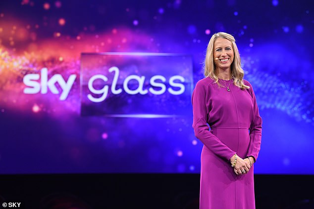 The 4K Ultra HD Quantum Dot television will work over a Wi-Fi connection and is 'the only TV in the world with Sky Inside', Sky boss Dana Strong (pictured) said at the launch event in London.