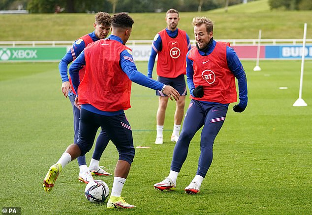 In training for the Three Lions, Kane looks a happier figure than he has done at Spurs