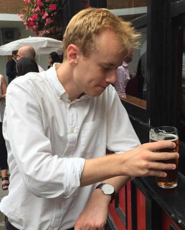 Hagyard (pictured in 2016) turned up to the event with a bottle of wine after treating his family to a celebratory three-course meal with his first pay check