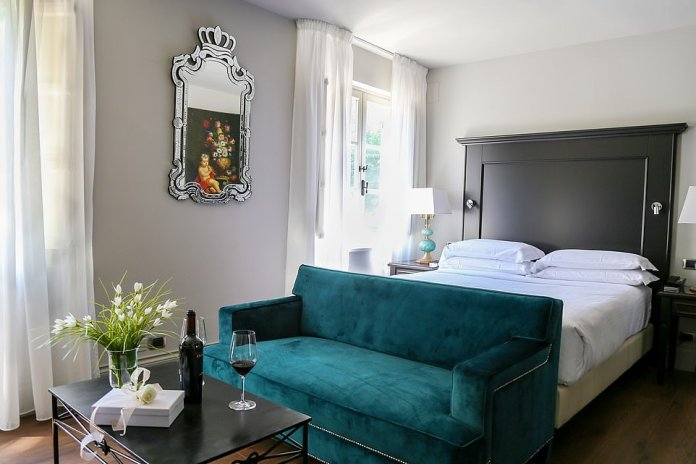 Lap of luxury: One of the opulent bedrooms at the highly regarded Hotel Vannucci