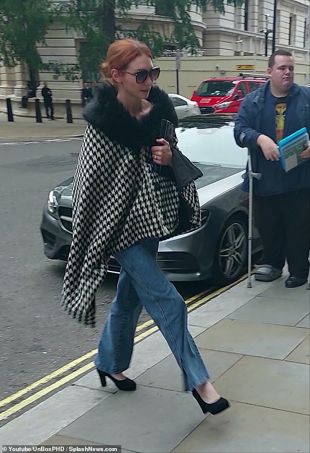 Wow!  Eleanor Tomlinson usually looked chic as she made her way to a lunch date in London on Thursday