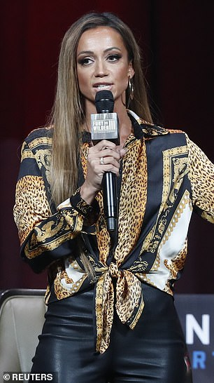 British broadcaster Kate Abdo (pictured) has responded to Bob Arum's abusive rant on her