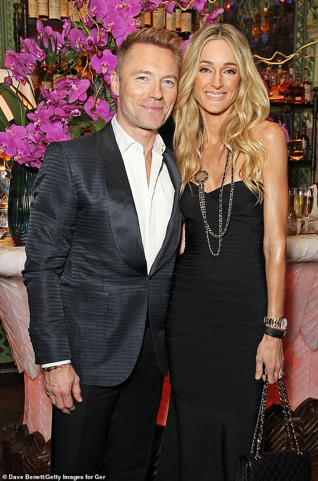 Together: Ronan Keating and his wife Storm attend the glittering Golden Wine Awards Thursday night in Annabel's, London