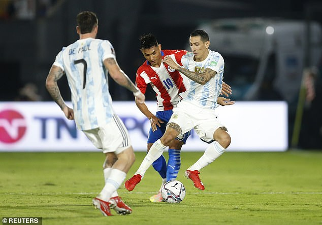 Angel Di Maria started for Argentina but they could not engineer a breakthrough