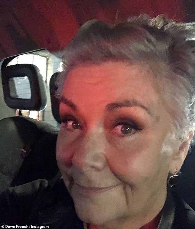 SILVER: Dawn French, 63, looked incredible on Thursday as she shared her new gray cropped hairdo on Instagram
