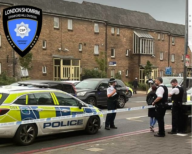 Police were called to High Road in Tottenham around 4.45pm yesterday after the man approached the young girl