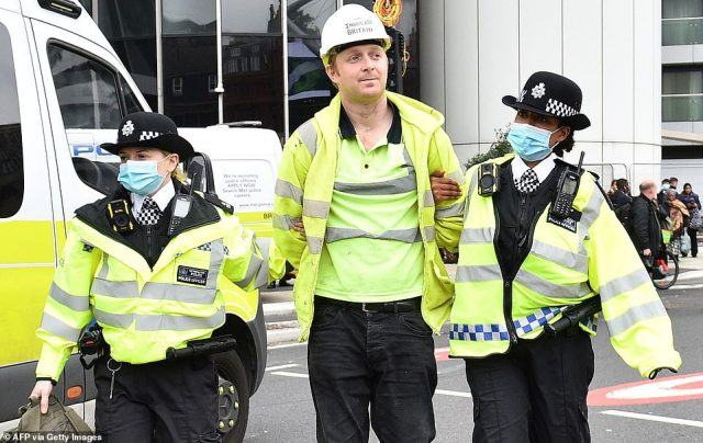 Millionaire eco hypocrite Joshua Smith was seen being arrested today. This is believed to be his seventh arrest after police repeatedly released him without conditions