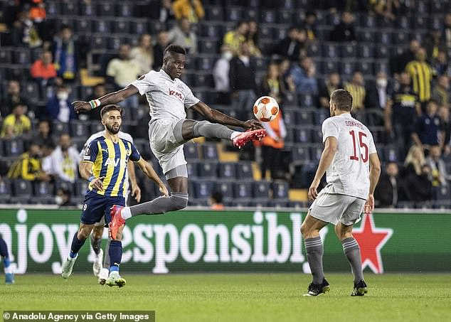 Scouts were sent by three Premier League clubs to their 3-0 European win over Fenerbahce