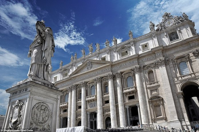 Frank's first port of call was the Vatican Museum, pictured, where he was enraptured by Raphael's School of Athens