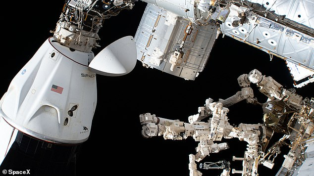 The SpaceX Crew Dragon Endeavor is docked for the International Space Station.  SpaceX Crew Dragon Endurance will dock on October 31, 2021