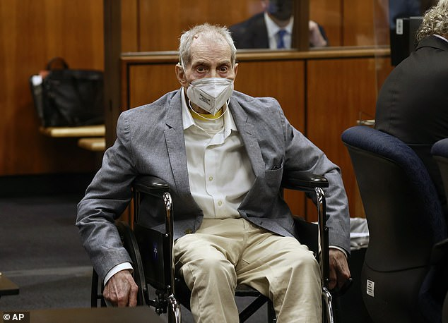 Robert Durst could soon face charges over the 1982 disappearance of his wife Kathie Durst, according to a report. Durst is pictured in LA court last month during his trial for the murder of Susan Berman