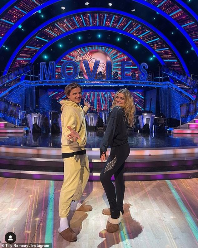 , Strictly star Tilly Ramsay's partner Nikita Kuzmin clutches onto her arm as they leave rehearsals, The Habari News New York
