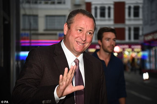 Mike Ashley (above) was the owner for 14 years, but became unpopular among Magpie fans