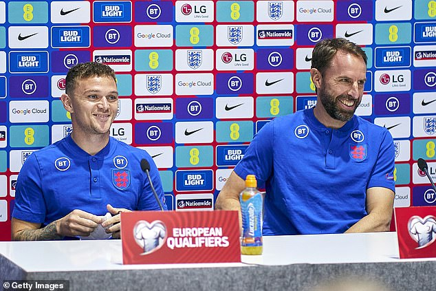 Southgate (right) also confirmed Kieran Trippier (left) will captain England on Saturday night