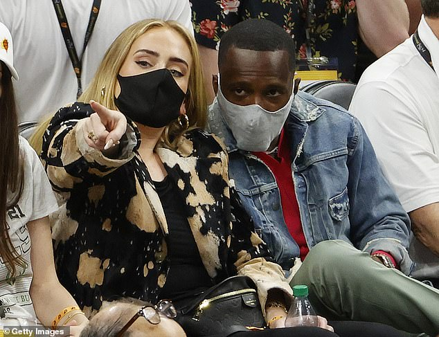 A pop colossus with the world at her feet, she also has a hot new boyfriend who is not intimidated by her celebrity and fierce independence. Above: Adele with new boyfriend Rich Paul